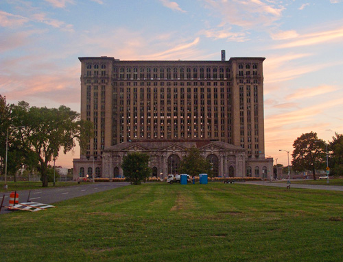 Michigan Central Train Station by David Byrne