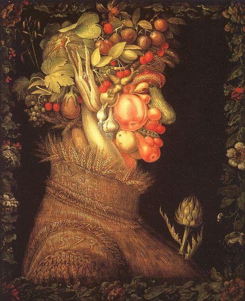 Giuseppe Arcimboldo ~ Summer, 1573, oil on canvas, Musee du Louvre, Paris