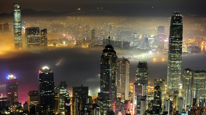 Victoria Harbor courtesy AFP Getty Images Richard A. Brooks